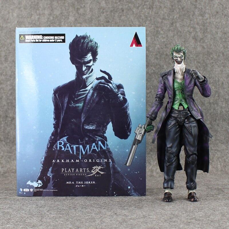 High quality Play Arts KAI Batman Arkham Origins NO.4 The Joker PVC Action Figure Collectible Toy 26cm neca dc comics batman arkham origins super hero 1 4 scale action figure