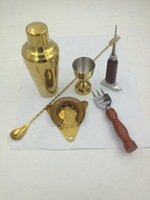 Gold Sets bar Tools high end wine can bartending Tool Kit shaker Bar Sets