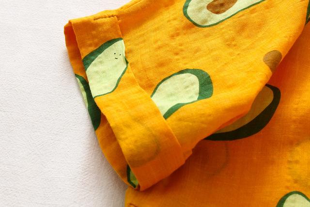 Summer Avocado Print Dress