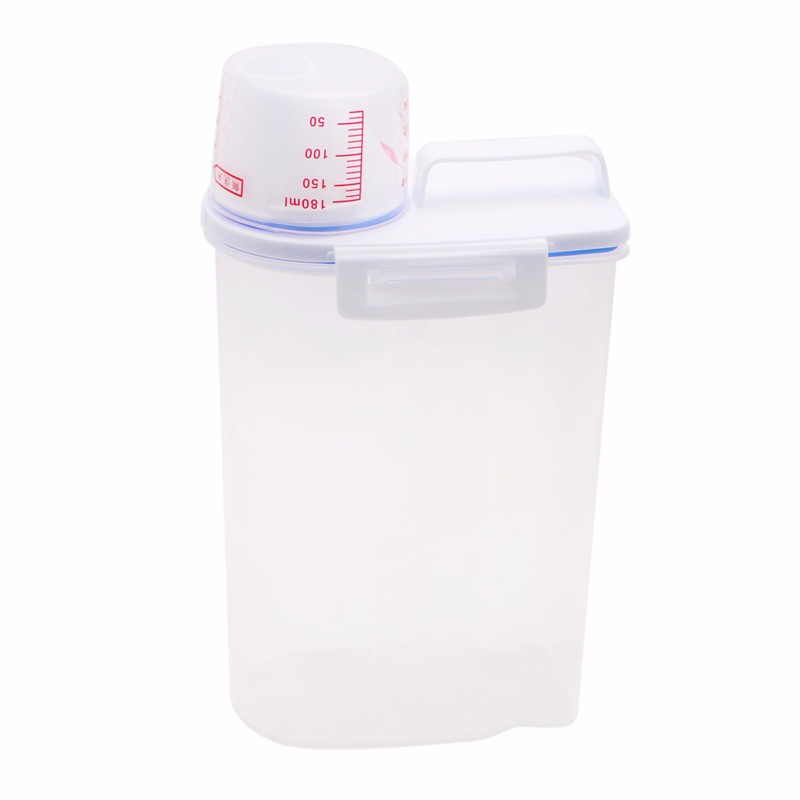 Dog Cat Pet Food Storage Container Dry Food Dispenser With Cup Pet Supplies-in Dog Feeding from Home u0026 Garden on Aliexpress.com | Alibaba Group  sc 1 st  AliExpress.com & Dog Cat Pet Food Storage Container Dry Food Dispenser With Cup Pet ...