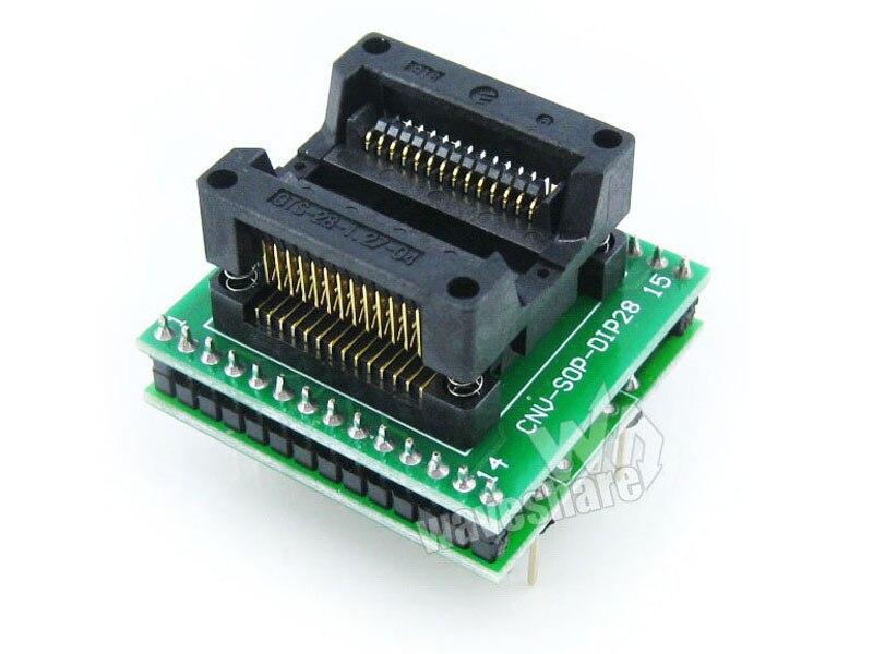 SOP28 Programmation Block Test Stand, Brûleur Adaptateur Adaptateur, Transfert à DIP28 Type A