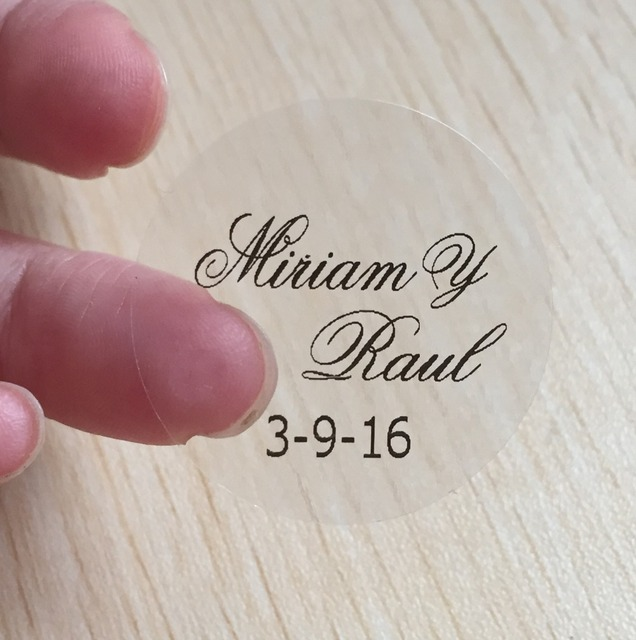 Personalised Clear Stickers