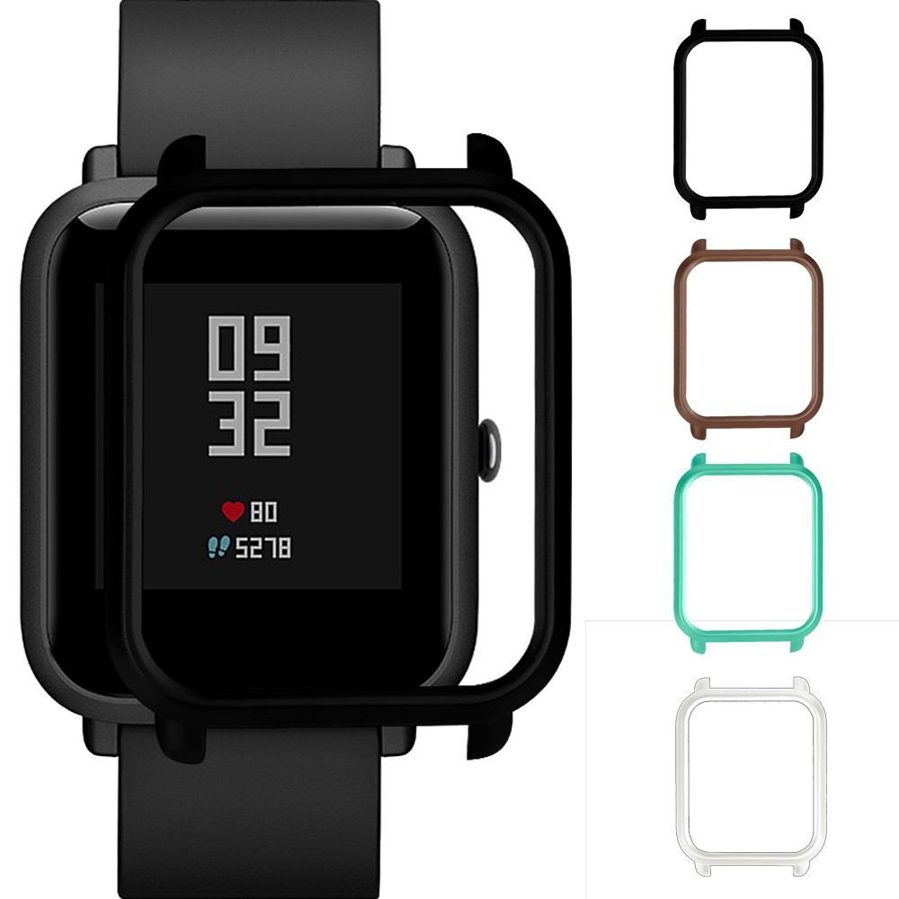 Slim Colorful Fashion Frame PC Case Cover Protect Shell For Huami Amazfit Bip Younth Watch Case Cover Stylish For Xiaomi L0507