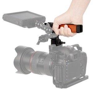 """Image 5 - NICEYRIG empuñadura superior de madera para cámara, mango de madera, mango superior, varilla de 15mm, abrazadera, Zapata fría, tornillo de 1/4 """"y 3/8"""""""
