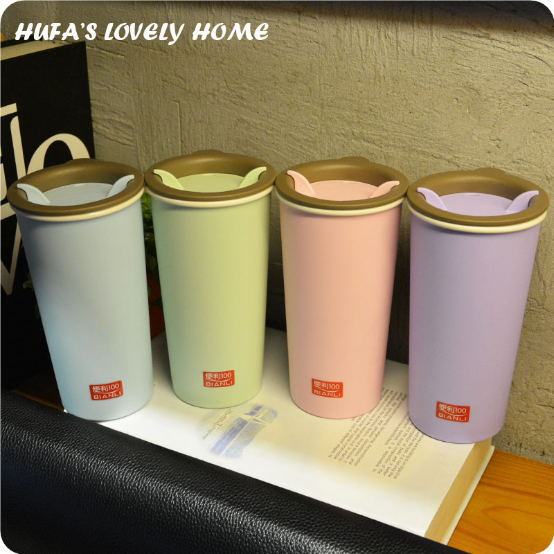 New Wheat Straw Fiber Plastic Water Bottle With Rotary Lid Portable My Tea Water Drink Bottle Home caneca
