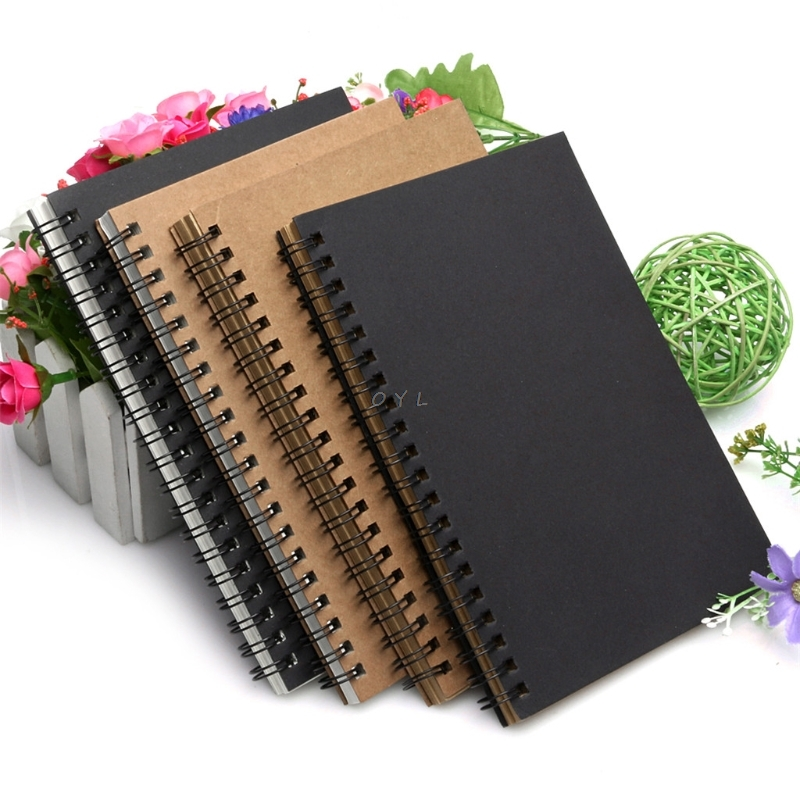 Reeves Retro Spiral Bound Coil Sketch Book Blank Notebook Kraft Sketching Paper