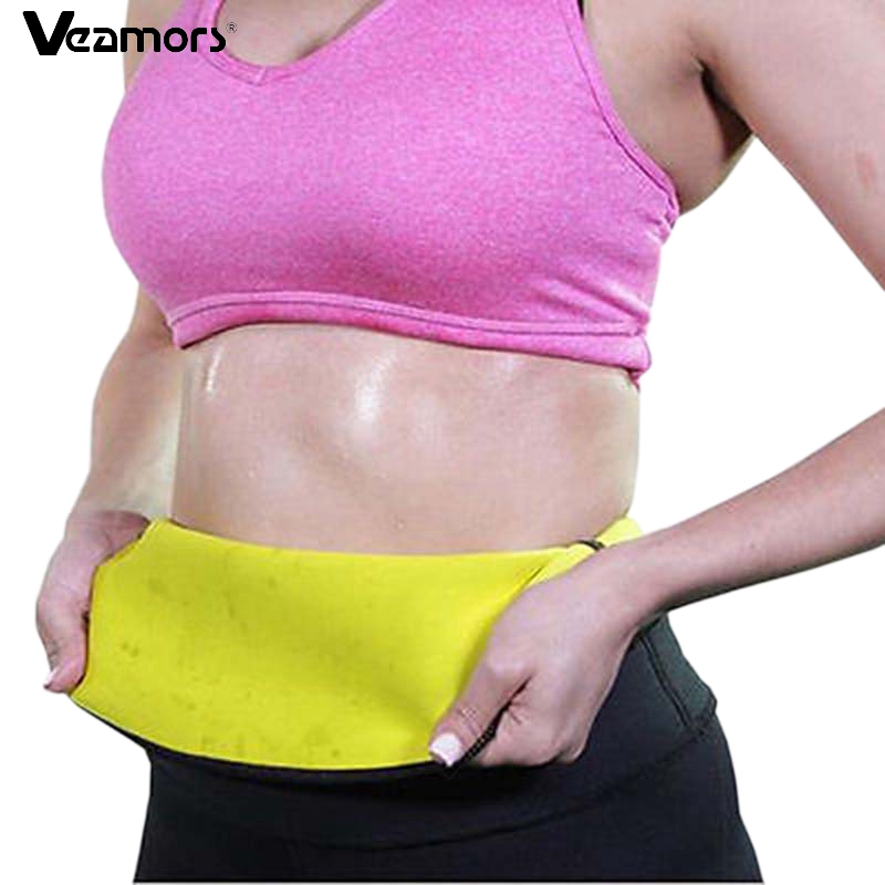VEAMORS Sport Waist Support Fitness & Body Building Yoga Shapers Slimming Shaping Self-heating Girls Slimming Pants Body Shapers self tie waist frill trim pleated pants