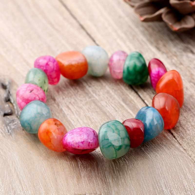 KMVEXO 7 Chakra bransoletka siedem czakr bransoletka energetyczna Mala koraliki nieregularny kamień naturalny bransoletki dla kobiet męskie joga biżuteria