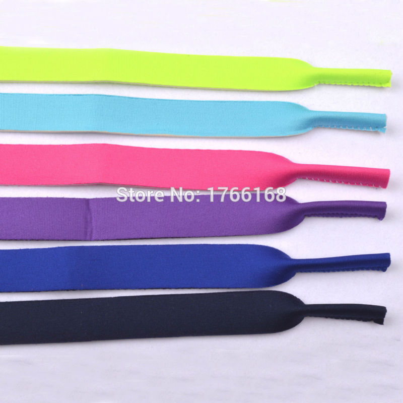 6002df195d5 Wholesale 50pcst Quality Kids Neoprene Sunglasses Glasses Outdoor Sports  Strap Head Band Floater Cord Eyeglass Stretchy