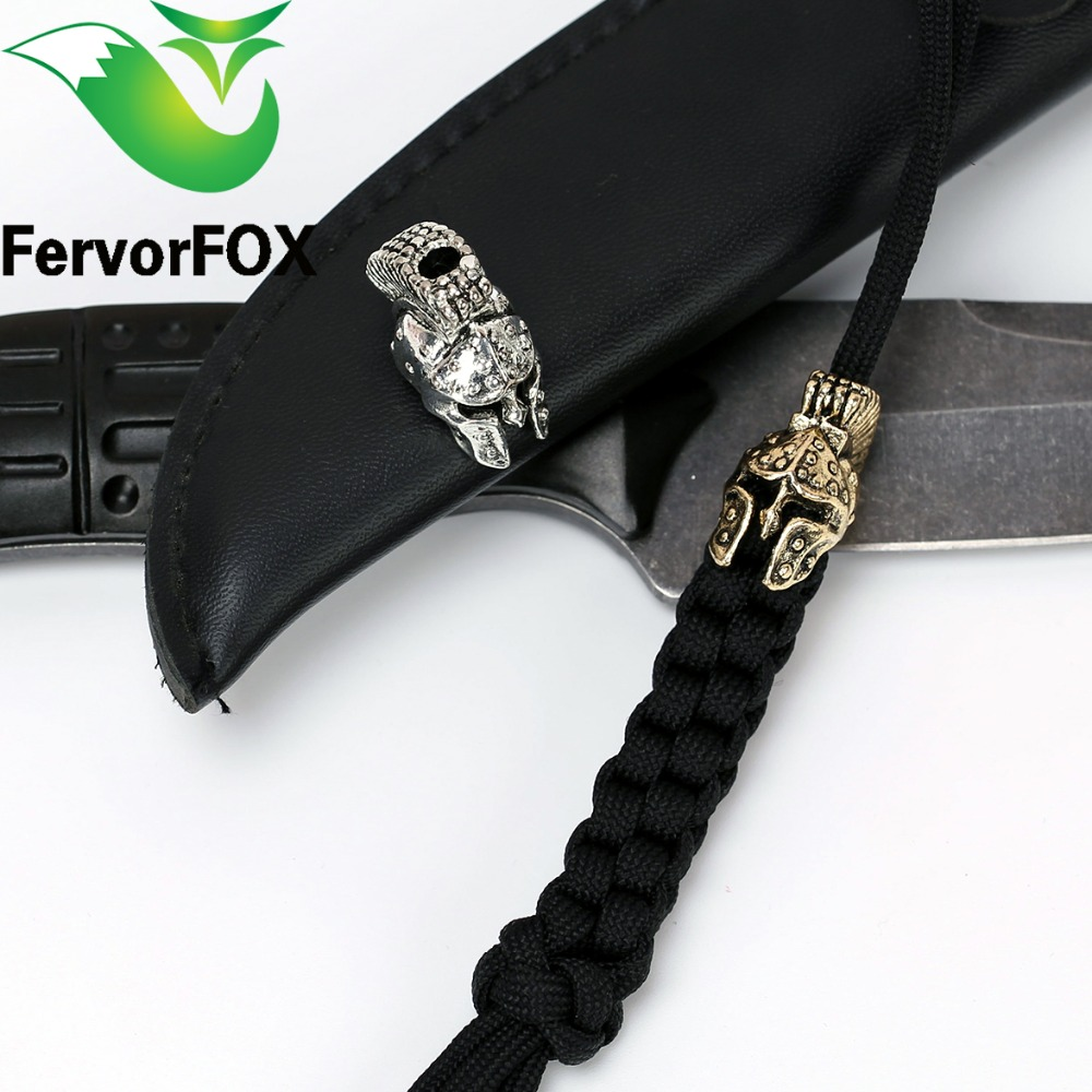 Paracord Beads Metal Charms Skull For Paracord Білезік Аксессуарлары Survival, DIY Pendant Buckle for Paracord Knife Lanyards