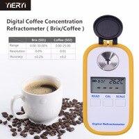 Yieryi 0 30% brix измеритель сахара кофе TDS 0 25% рефрактометр концентрации цифровой портативный электронный рефрактометр