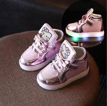 Новый Дети Светящиеся Обувь Мальчики Девочки Спорт Кроссовки Детские Flashing Lights Мода Кроссовки Малыш Малыш СВЕТ Кроссовки