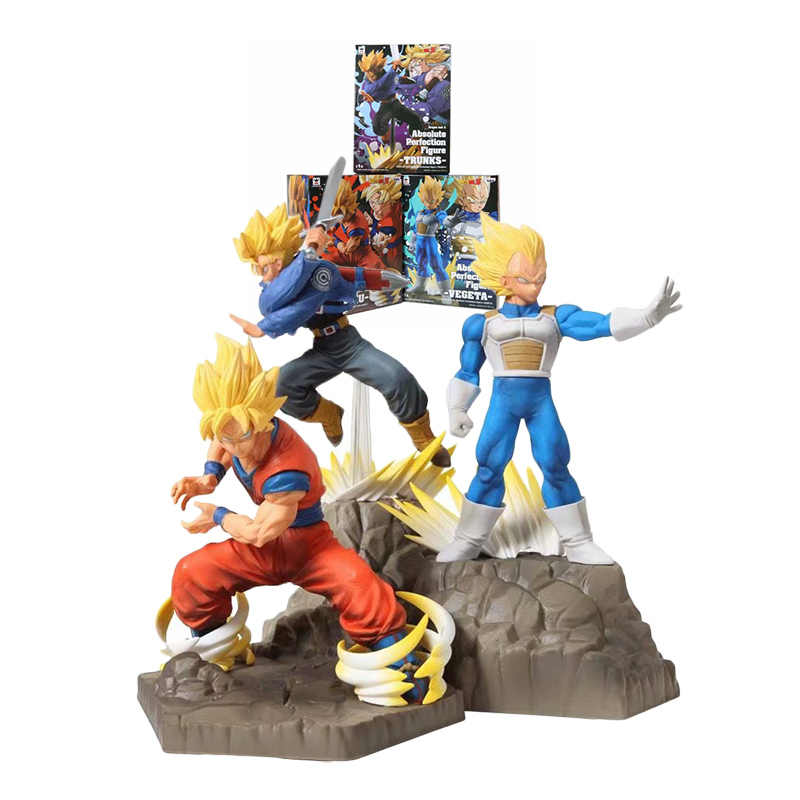 New Dragon Ball Super Saiyan goku vegeta Trunks APF DBZ PVC Toy Action Figure Coleção Modelo brinquedos
