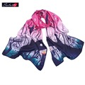 SALUTTO 2016 Higi Quality Digital Printing Women Scarf Brand Shawls and Scarves 100% Silk Foulard Femme Luxury Monet Painting