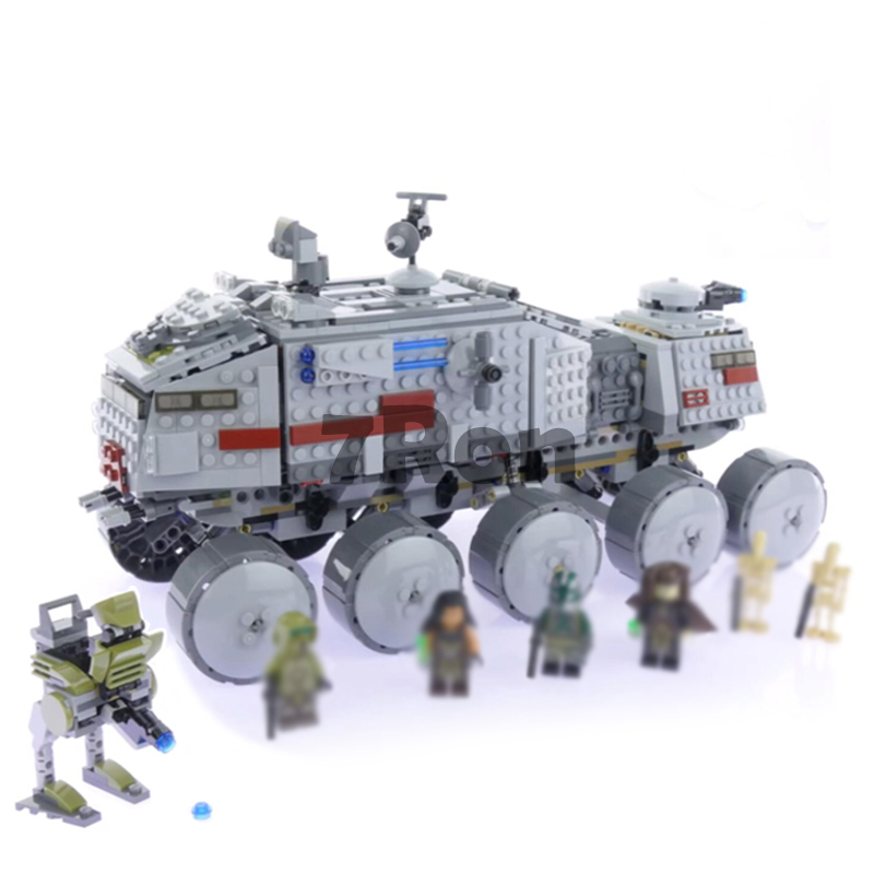 933Pcs Star Wars Clone Turbo Tank 75151 Building Blocks Compatible with lego 75151 STAR WARS Toy 05031 Boys Toys Gift lego star wars iii the clone wars [mac цифровая версия] цифровая версия
