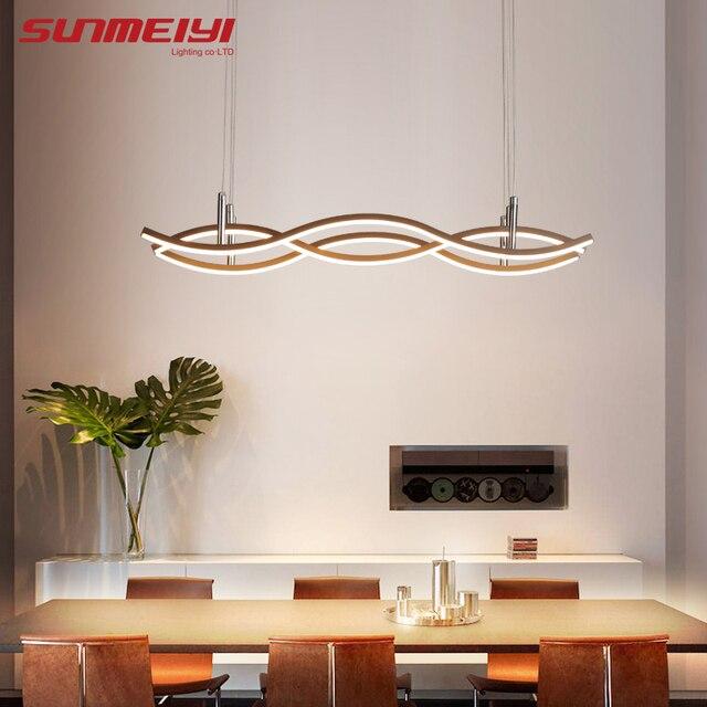 Creative Strip LED Pendant Lights Aluminum Indoor Lamp For Dining room Cafe Bar Living room Nordic Kitchen Pendant Lighting