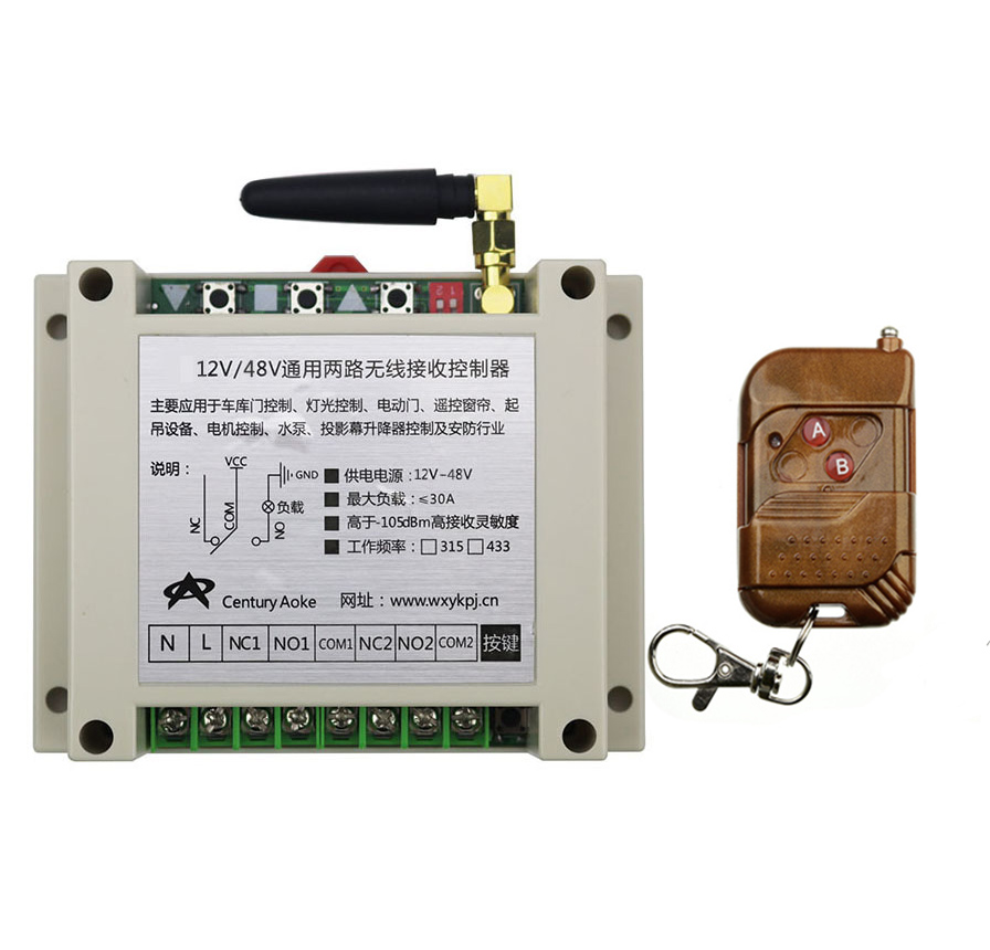ФОТО DC12V 24V 36V 48V 10A 2CH RF Wireless Remote Control Switch System  transmitter &  receiver relay Receiver Smart Home Switch