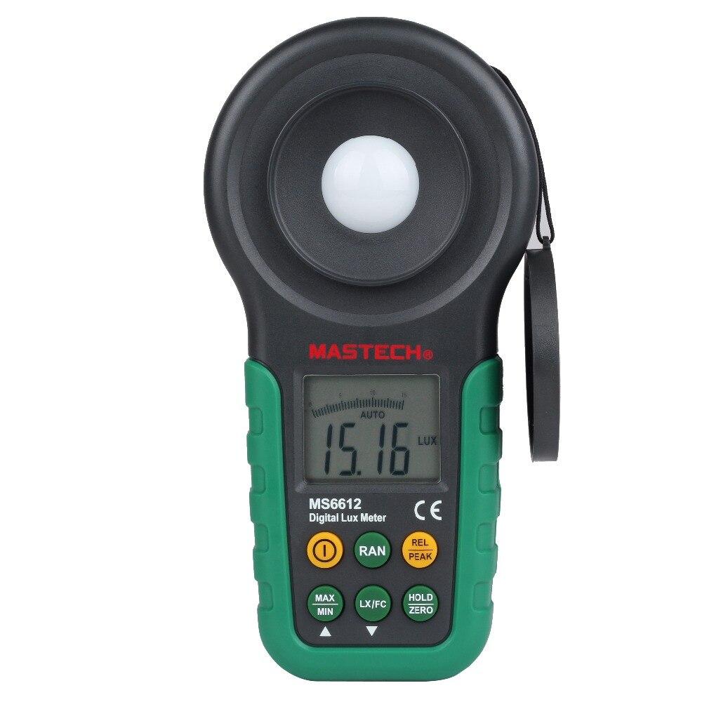 Mastech MS6612 Lux mètre 200,000 Lux Light meter Test Spectres Auto Gamme De Haute Précision Numérique Luxmètre Illuminometer