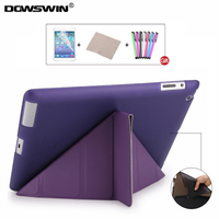For IPad 2 3 4 Case DOWSWIN Pu Leather For IPad 2 Cases TPU Soft Back