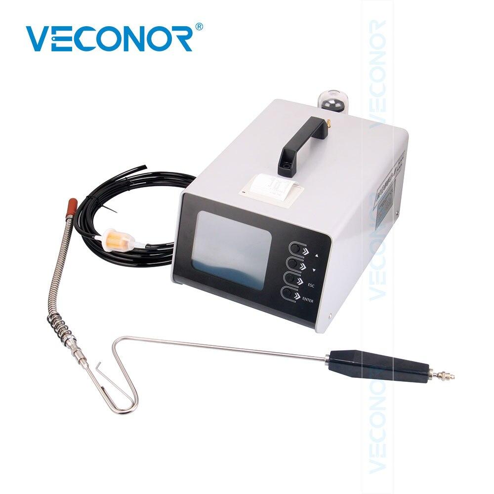 Автомобильный анализатор выхлопных газов испытания на выброс двигателя автомобиля 5 портативный анализатор газа с мини микро принтер ЖК ди
