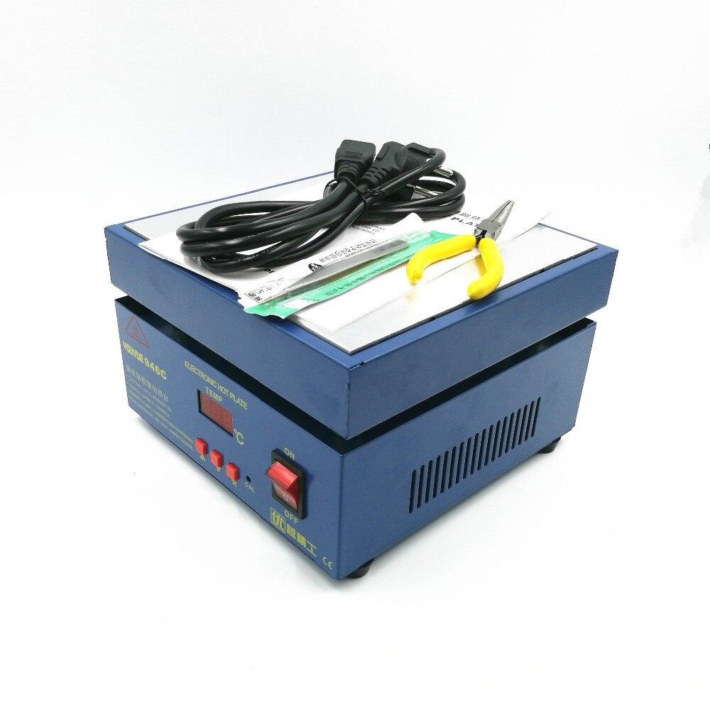 110/220 V 800 W 946C Placa Quente Eletrônico Pré-aqueça O Preaquecimento Estação 200x200mm Para BGA PCB SMD Conduziu a lâmpada de Aquecimento desoldering