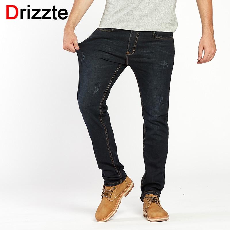 Drizzte Hommes Jeans De Mode Denim Stretch Jeans Rayures Pantalon Pantalon plus la Taille 28 à La Taille 35 36 38 40 42 44