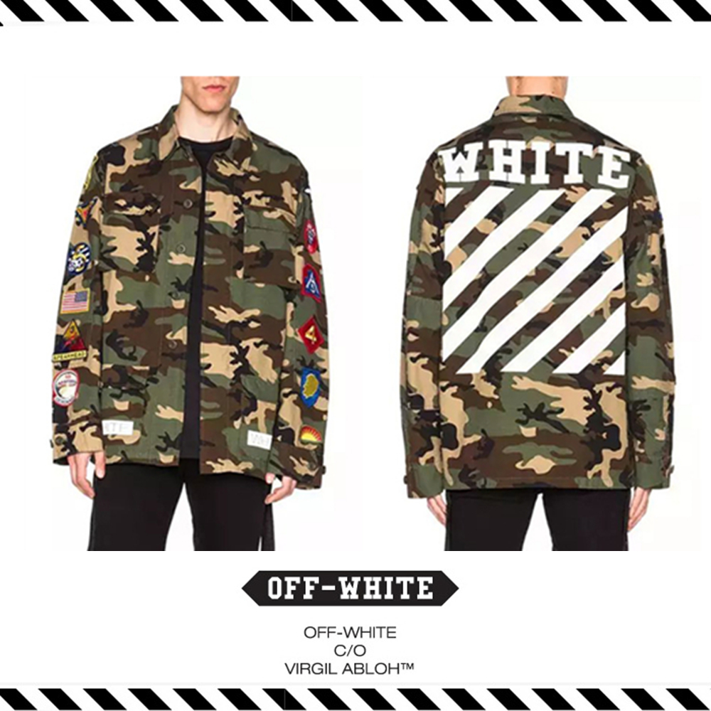3730077c3fec Best Version 2016 Fall Winter Off White C o Virgil Abloh Religion Hip Hop  Men Kryptek Camouflage Camo Army Military Jacket Coat