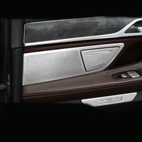 Car Styling Interior Door Stereo Speaker Frame Net Circle Cover Trim For BMW 7 Series