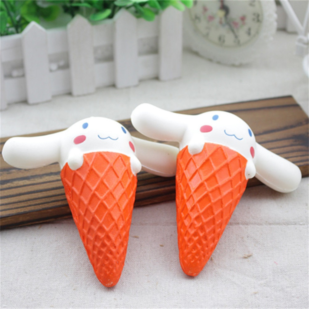 Cute Squishy Toys Stress Reliever Squishy Slow Rising Ice Cream Rabbit Kawaii Squeeze Antistress Ball Funny Cure Gift JA12b