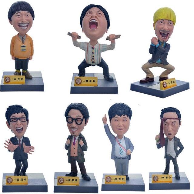 7pcs NEW Coreano Spettacolo di Varietà Infinita Sfida Super Star Action Figure Da Collezione Giocattoli Mascotte