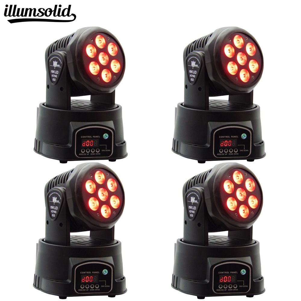 4Pcs/lot wash moving head 7x12W RGBW 4in1 LED moving head Mini DJ dmx stage light цена