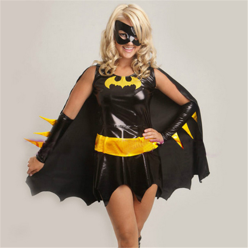 2018 High Quality Black Batman Costume Adult Batgirl Women Halloween