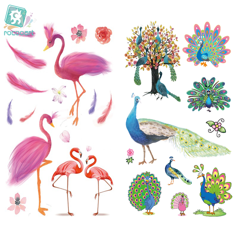 New 2018 Cartoon Cute Kids Children Flamingo Animal Temporary Tattoo Sticker