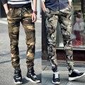 Calças Camo 2015 Camuflagem Calças Dos Homens Casuais Hip Hop Calças Harém Camo Corredores Pantalones Calças de carga militar