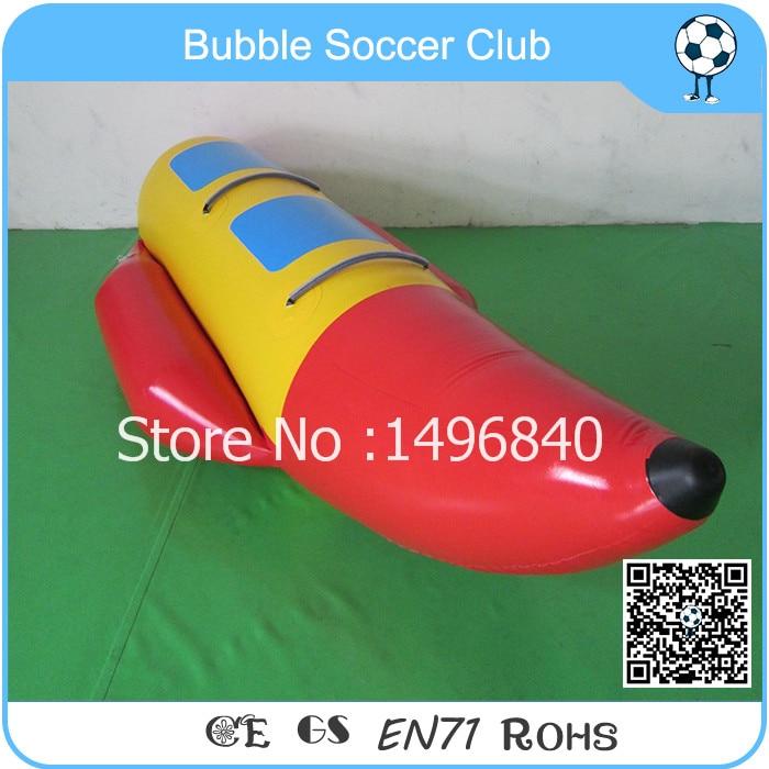 Livraison gratuite 3 personnes Guangzhou usine offre équipement de sport bateau banane gonflable utilisé bateau à réaction pour voler remorquables