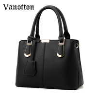 Women Bag Big Handbag OL Style Shoulder Bags Casual Zipper Messenger Bags PU Leather Tote Pendant