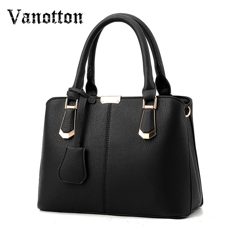 Women Bag Big Handbag OL Style Shoulder Bags Casual Zipper Messenger Bags PU Leather Tote Pendant Purse Satchel Sac aibkhk new leather middle aged women messenger bags women handbag satchel shoulder bags casual joker cowhide bag purse tote