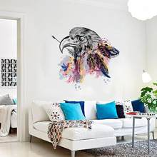 DIY Eagle Head TV Background Wall Decoration Europe and the United States Yingtou TV Removable Wall Stickers(China)