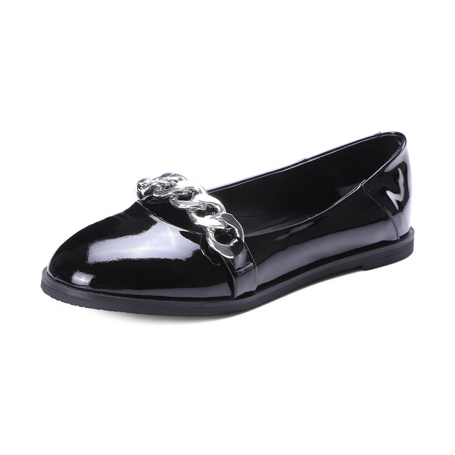 ФОТО 2017 Spring Autumn Women Single Shoes Flats Mary Janes Shoes Metal Decoration Fashion Women Shoes