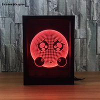 Feimefeiyou Expression Style Frame Small 3D Night Light Creative Acrylic Photo Frame With Lamp Decoration holiday lamp gift