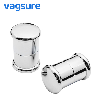 Vagsure 2Pcs/Lot Plastic Electroplated Single Hole Round Shape Sliding Knob Door Handle For Furniture Shower Cabin Accessories