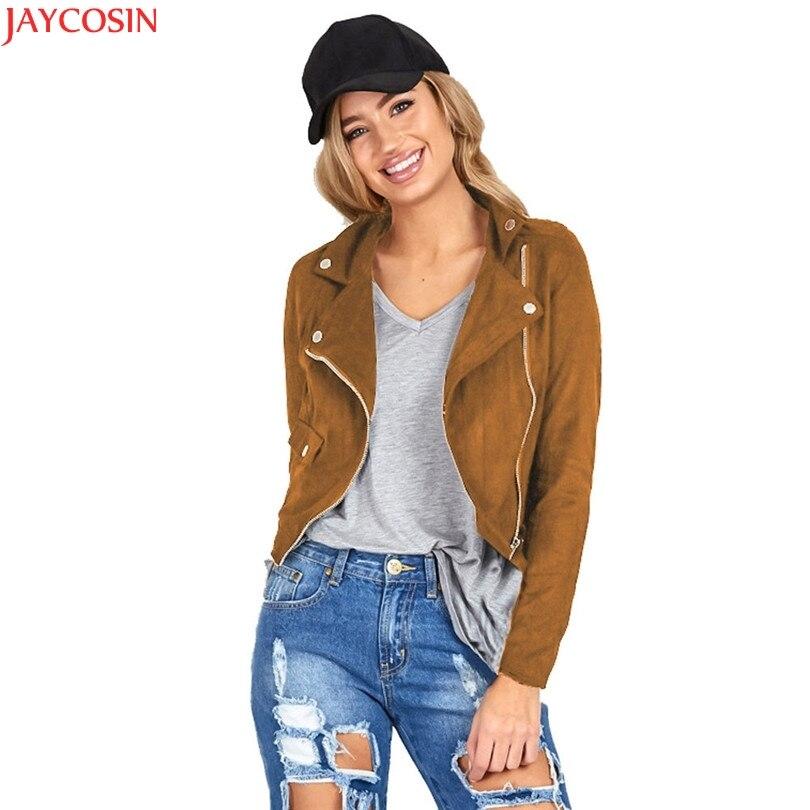 women jacket women basic coats Faux Leather Womens Sexy Winter Slim Biker Motorcycle Leather Jacket Zipper Coat bomber jacket TJ