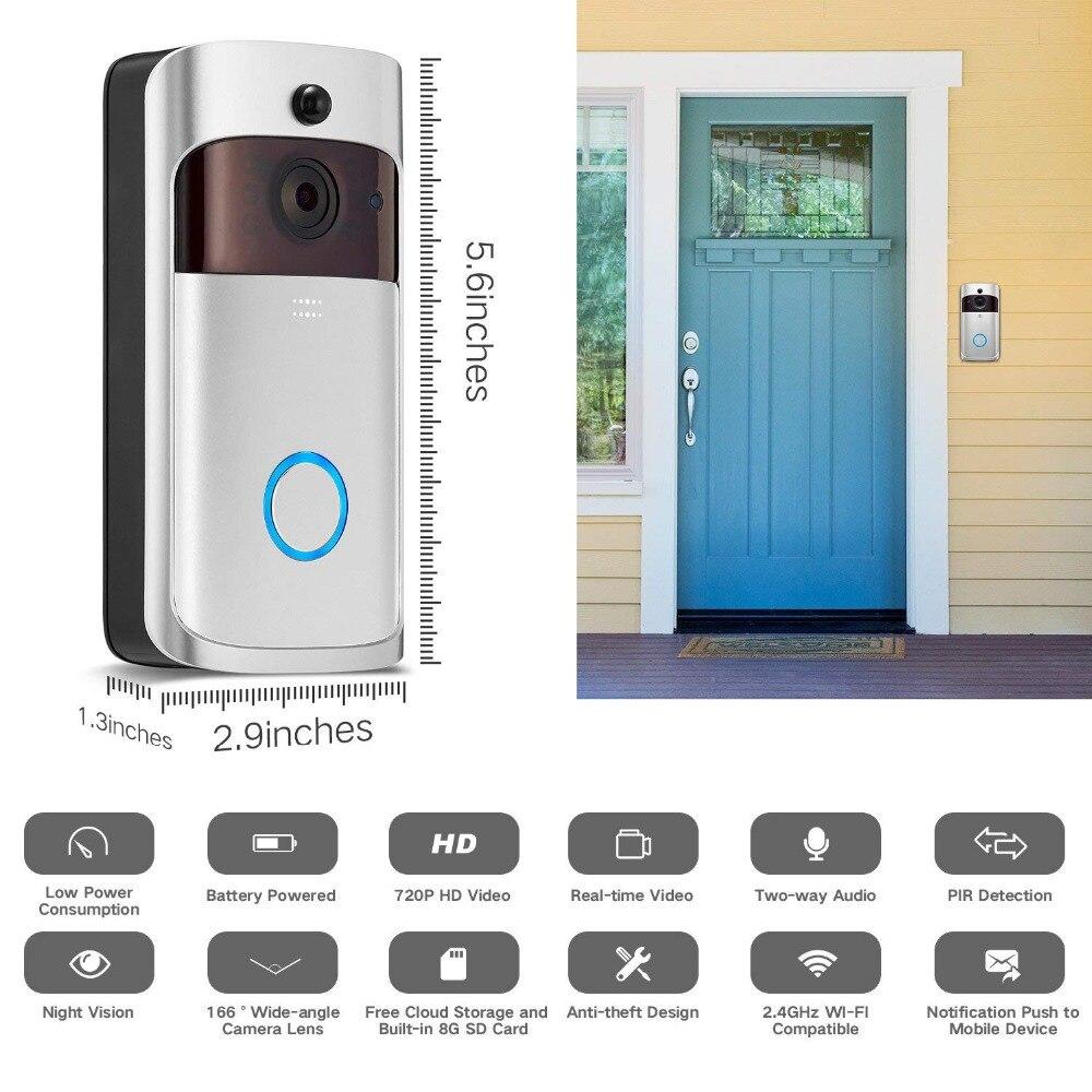›Hot DealsEKEN Bell Security-Camera Doorbell-Intercom Video WIFI Night-Vision Smart Wireless Visual‰
