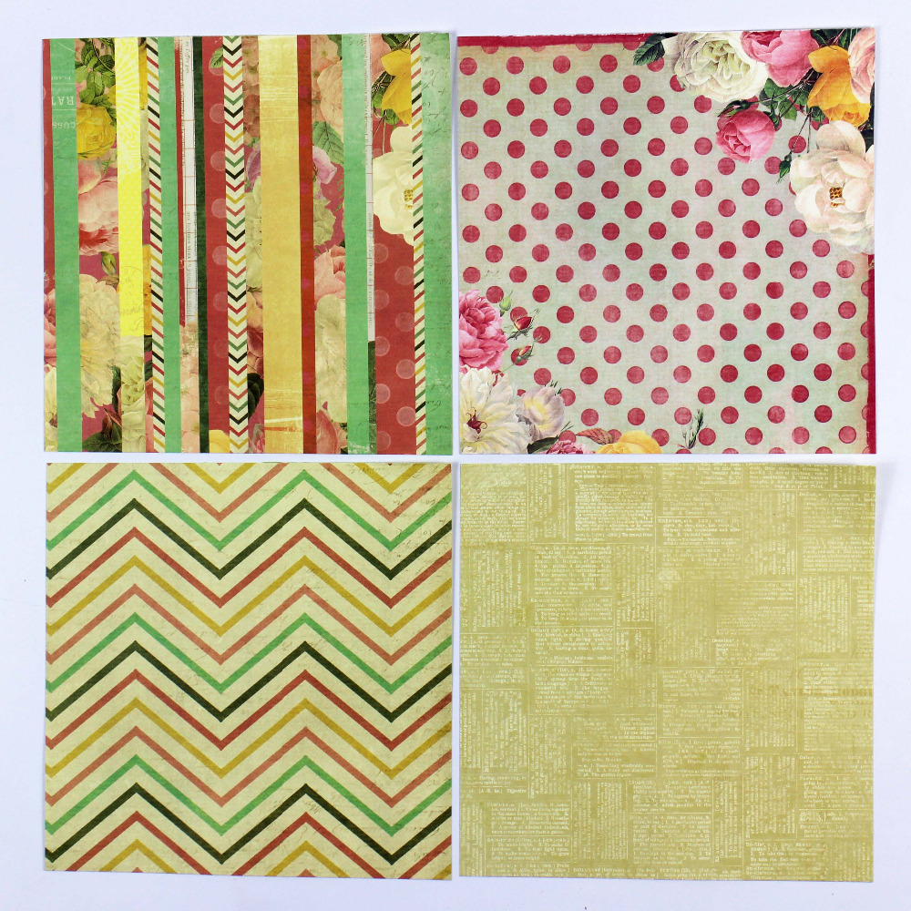 Scrapbook paper pads - Aliexpress Com Buy Enogreeting 7 Cute Vintage Colorful Flower And Birds Scrapbooking Paper Nature Theme 40sheets Background Paper Pads From Reliable