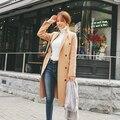 Las Mujeres flojas de Invierno Abrigo de Lana de La Manga Completa de Otoño Caliente Del Invierno Largo Femenino abrigo de Lana Outwear