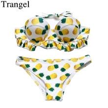 Trangel Pineapple Women Swimsuit Sexy Ruffle Bikini sets Women Push up Swimwear For Gilrs Summer Holiday Maillot De Bain 8