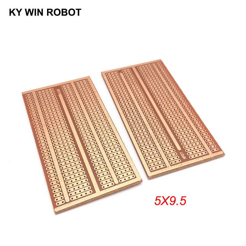 2pcs/lot DIY Prototype Paper PCB Universal Experiment Matrix Circuit Board Two Holes Three Connected Hole Four Holes 5x9.5CM