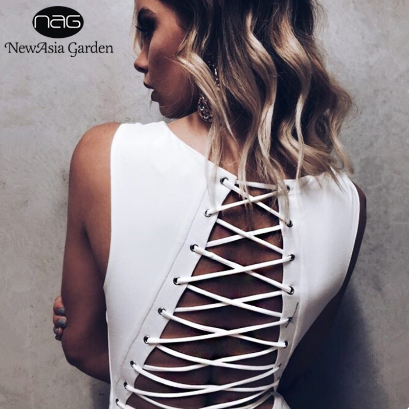 NewAsia Garden Sexy Bodysuit Backless Lace Up Bodysuits Rompers Women   Jumpsuit   Body Feminino Girls Playsuit 2018 Femme Overalls