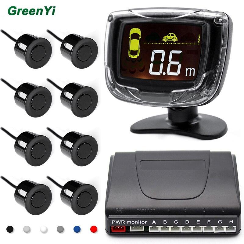 imágenes para Kit de Sensor de Aparcamiento LED Display 8 Sensores del coche o 6 Sensores 22mm 12 V para Todos Los coches Inversa Monitor de Reserva Del Radar del Sistema de Asistencia