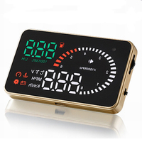 KM/h MPH Overspeed Warning X6 OBD2 system Golden design Smart 3 inch car display HUD display HD